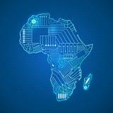 Il continente dell'Africa royalty illustrazione gratis