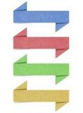 Il contrassegno ha riciclato il mestiere di carta per fa il bastone della nota Immagini Stock Libere da Diritti