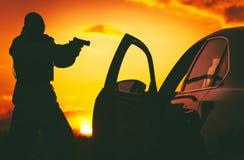 Il contro terrorismo Check Point fotografia stock libera da diritti