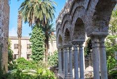 Il convento della chiesa & del x22 arabo-normanni; Degli Eremiti& x22 di San Giovanni; a Palermo sicily fotografia stock libera da diritti