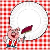 Il Cookout del BBQ invita Immagini Stock