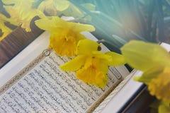 Il Corano santo - libro sacro islamico fotografia stock
