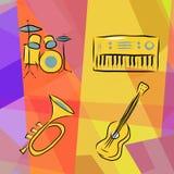 Il corno di musica ha impostato 3 Fotografie Stock Libere da Diritti