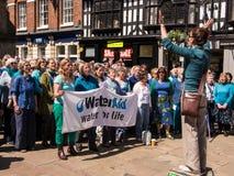 Il coro canta per la carità Fotografia Stock Libera da Diritti