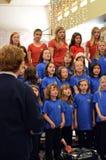 Il coro della ragazza Immagine Stock