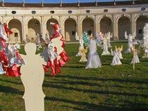 Il coro di Angelsâ, villa Manin, Italia Immagine Stock