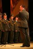 Il coro militare dell'esercito russo Fotografie Stock Libere da Diritti