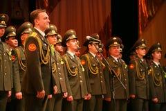Il coro militare dell'esercito russo Immagine Stock Libera da Diritti