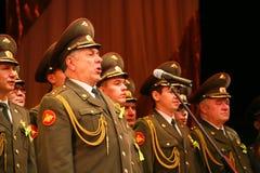 Il coro militare dell'esercito russo Immagini Stock