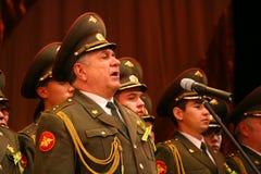 Il coro militare dell'esercito russo Fotografia Stock Libera da Diritti