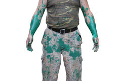 Il corpo di un uomo in vestiti Fotografia Stock