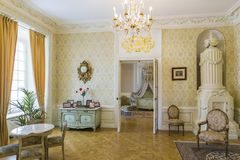 """Il Corridoio """"il Radziwills Phot AlbumÂ"""" l'ex principessa Bedroom usato per principe e principessa Children immagini stock"""