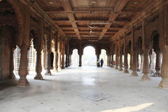 Il corridoio al tempio Fotografie Stock Libere da Diritti
