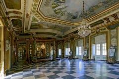 Il Corridoio degli ambasciatori nel palazzo del cittadino di Queluz fotografia stock