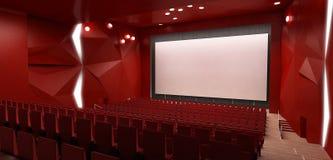 Il corridoio del cinema, 3d rende Fotografie Stock