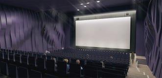 Il corridoio del cinema, 3d rende Fotografia Stock Libera da Diritti