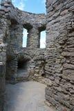 Il corridoio della fortezza medioevale in Carpathians Immagine Stock