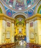 Il corridoio della preghiera del monastero Fotografie Stock