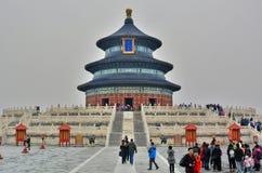 Il Corridoio della preghiera per le buone raccolte Il tempio del cielo Pechino La Cina Immagini Stock