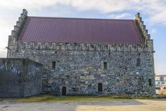 Il Corridoio di Haakon nella fortezza di Bergenhus a Bergen, Norvegia Fotografia Stock Libera da Diritti