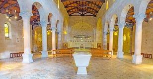 Il corridoio di preghiera della chiesa di moltiplicazione Immagine Stock