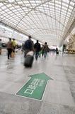 Il corridoio di stazione ferroviaria Fotografie Stock Libere da Diritti