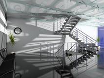 Il corridoio moderno dell'ufficio illustrazione vettoriale
