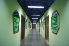 Il corridoio nella città di Shenzhen, Baoan Art Fotografia Stock Libera da Diritti