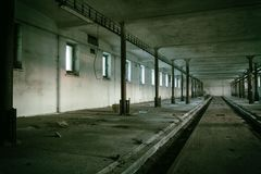 Il corridoio sporco di oscurità del fantasma Immagine Stock Libera da Diritti