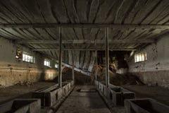 Il corridoio sporco di oscurità del fantasma Fotografie Stock Libere da Diritti