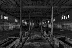 Il corridoio sporco di oscurità del fantasma Fotografia Stock Libera da Diritti