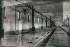 Il corridoio sporco di oscurità del fantasma Illustrazione di Stock