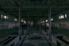 Il corridoio sporco di oscurità del fantasma Immagini Stock Libere da Diritti