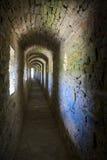 Il corridore della fortezza medioevale Fotografie Stock