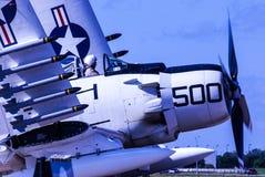 Il corsaro della marina che aspetta per decolla Fotografie Stock