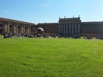 Il cortile ai musei del Vaticano Immagini Stock