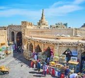 Il cortile del mercato degli uccelli, Souq Waqif, Doha, Qatar Fotografia Stock Libera da Diritti