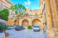 Il cortile di municipio in Mdina, Malta immagini stock
