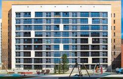 Il cortile di un edificio residenziale Fotografie Stock Libere da Diritti