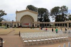Il cortile ha installato per la graduazione, parco della balboa, San Diego, la California, 2016 Fotografie Stock Libere da Diritti