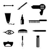 Il cosmetico, compone le icone Immagini Stock