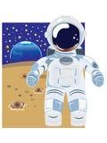Il cosmonauta Fotografia Stock