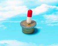 Il costo delle medicine Fotografia Stock Libera da Diritti