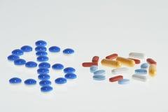 Il costo di medicina Fotografie Stock