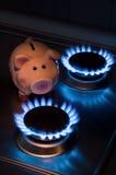 Il costo di metano Fotografie Stock Libere da Diritti
