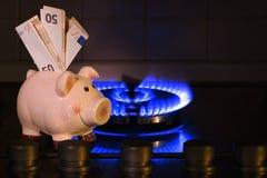 Il costo di metano Immagine Stock Libera da Diritti