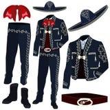 Il costume del musicista dei mariachi parte l'illustrazione di vettore illustrazione di stock