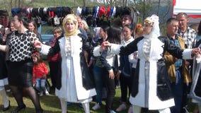 Il costume nazionale della gente di Gorani fotografia stock libera da diritti