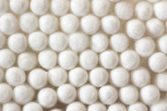 il cotone attacca le lane Fotografie Stock
