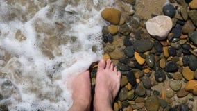 Il coulor della pietra e del piede Fotografia Stock
